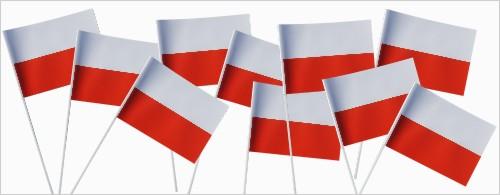 biało-czerwone chorągiewki Polski