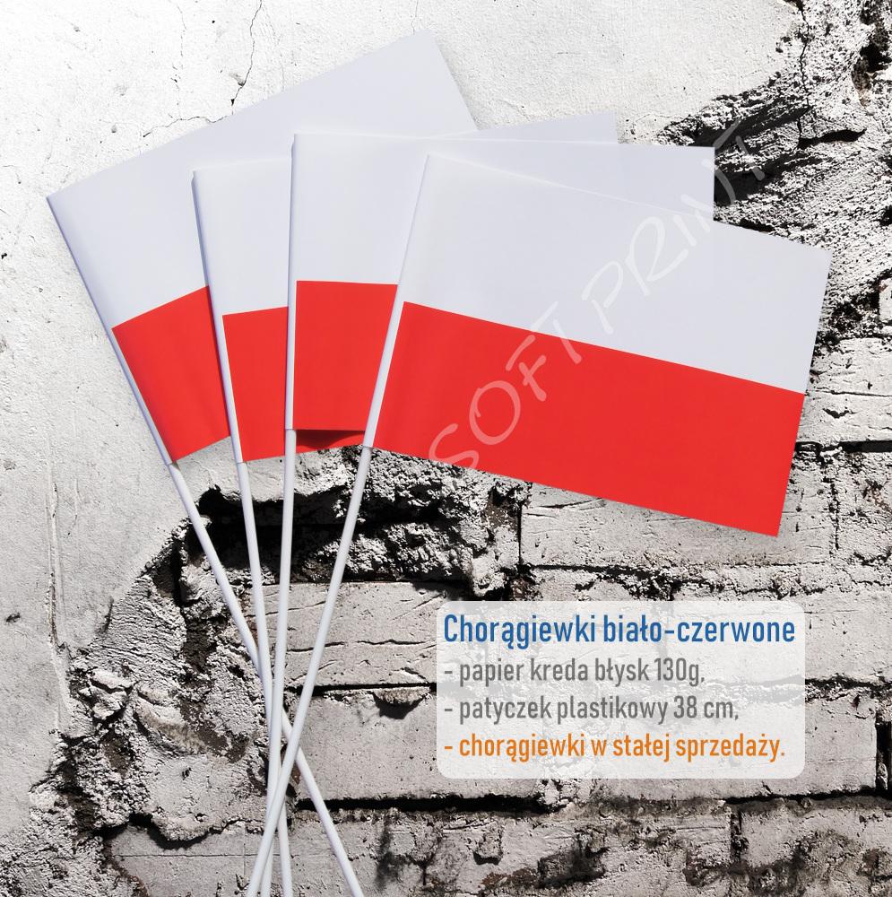 chorągiewki Polski