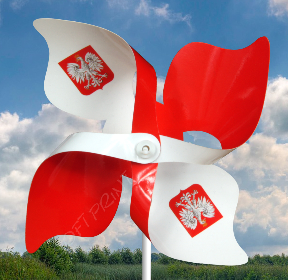 wiatraczek biało-czerwony