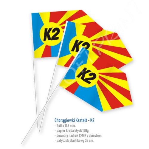 chorągiewka kształt K2