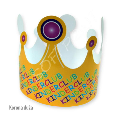 Duża korona kartonowa