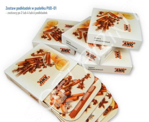Zestaw podkładek w pudełku PUD-01