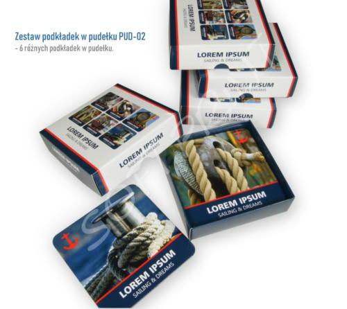 Zestaw podkładek w pudełku PUD-02